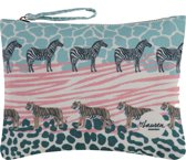 Lauren Sterk Amsterdam - canvas etui met rits - make-up tasje - pennenhouder - small - Safari - multicolor