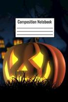 Composition Notebook: Halloween Pumpkin College Ruled Notebook For Kids Teens Adults To Write Notes And Document Halloween Recipes