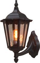 Konstsmide Firenze - Wandlamp opwaarts 48cm - 230V - E27 - matzwart