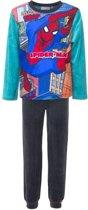 Spiderman velours pyjama 104 cm Groen ' Extra dik '