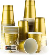 100 American Gold Cups - 500ml Gouden Party Bekers - Original  Beer Pong