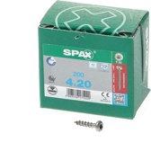 Spax Spaanplaatschroef cilinderkop RVS T-Star T20 4.0x20mm (per 200 stuks)