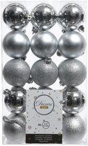 Kerstballen Mix (6cm) Box 30 Stuks Zilver