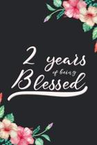 Blessed 2nd Birthday Journal