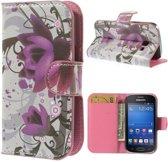 Lotus print wallet case hoesje Samsung Galaxy Ace Style G310