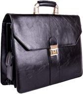 Lombard London Business Briefcase - Business Bag - Aktentas (0507 BK)