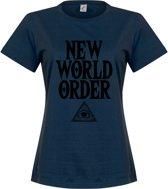 New World Order Dames T-Shirt - Navy - S