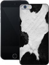 Koeien Print | Handmade in Benleux |  iPhone 6 6s | Zwart TPU Hoesje