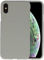 Grijs Color TPU Hoesje voor iPhone XS / X