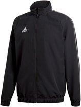 adidas Core18 Trainingsjas Heren  Sportjas - Maat L  - Mannen - zwart/wit