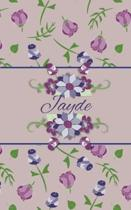 Jayde: Small Personalized Journal for Women and Girls