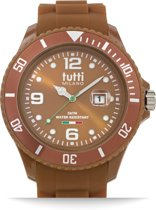 Tutti Milano TM001BR- Horloge - 48 mm - Bruin - Collectie Pigmento