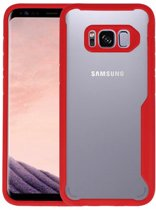 Focus Transparant Hard Cases voor Samsung Galaxy S8 Rood
