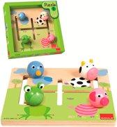 Goula houten labyrinthpuzzel dieren