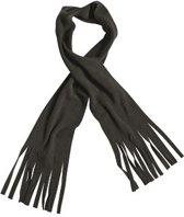 Fleece sjaal met franjes zwart