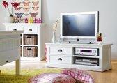 TV-meubel Wittevilla 120cm wit met lades en open vakken