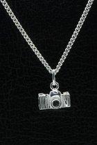 Zilveren Fototoestel ketting hanger