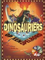 Dinosauriërs / op een spelbord