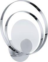 EGLO Ringo 1 Wandlamp - 1 Lichts - Chroom - Wit
