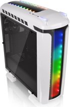 Thermaltake Versa C22 RGB Snow Edition Midi-Toren Zwart, Wit computerbehuizing