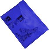 EXXO-HFP #90826 - A6 Documentenmap - Landschap model - Klitsluiting - Blauw - 1 Pak @ 10 stuks