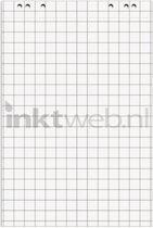 Corona flipoverblok, 68x99cm, voorzijde geruit, achterzijde blanco, 5 x 20 vel