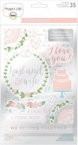 Project life chipboard sticker southern weddings