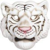 Witte tijger kindermasker foam
