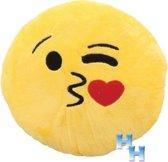 """Emoji - Emoticon - Smiley - Kussen - """"Love Kiss"""""""