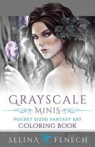 Grayscale Minis - Pocket Sized Fantasy Art Coloring Book