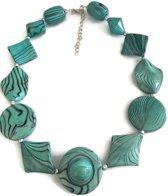 Petra's Sieradenwereld - Ketting turquoise onregelmatig (763)