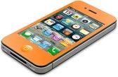"""AVANCA Toughglass Iphone 4 Oranje - Glazen Geharde beschermer- Screenprotector- tempered glas-  transparant -2.5D- 9H- (0.4mm) - ( Zeer sterk Materiaal) - Iphone 4 """