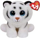 Ty Beanie knuffel witte tijger 15 cm - knuffeldier / knuffels