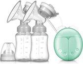 Elektrische dubbele borstkolf - borstvoeding - moedermelk - kolven - afkolfset - babyvoeding – kolf – BPA vrij - Blauw