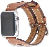 42mm Apple Watch bruin leer double gesp bandje - 42mm