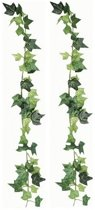 2x Luxe klimop kunstplant slingers 180 cm - Hedera kunstplanten/nepplanten