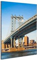 Manhattan brug in New York City Aluminium 40x60 cm - Foto print op Aluminium (metaal wanddecoratie)