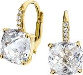 The Jewelry Collection Oorhangers Kwarts En Zirkonia - Geelgoud