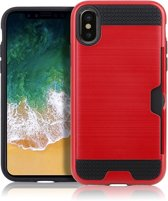 Mobigear Brushed Rood iPhone Xs Max