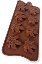 Duo pack Esdoorn Siliconen Mal - Blad Chocolade Vorm - Ijsblokjes Canada - Canabis blad - 2 trays / vormen