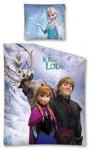 Disney Frozen All Together - Dekbedovertrek - Eenpersoons - 140x200 cm - Blauw
