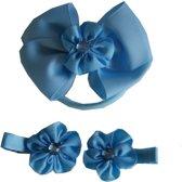 Jessidress Set van Haar Elastiek met Haarspelden Meisjes Haarclips - Blauw