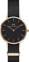Daniel Wellington Classic Petite Cornwall Black DW00100215 - Horloge - Nylon - Zwart  - Ø 32mm