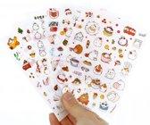 Kawaii stickers (6 vel)  met konijntjes - leuke plaatjes voor scrapbooking, agenda, brieven etc.  Japans design