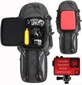 Navitech GoPro-rugzak met rode schokbestendige behuizing