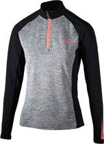Rogelli Dynamic Longsleeve Dames  Sportshirt - Maat S  - Vrouwen - grijs/zwart/rood