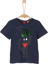 s.Oliver Jongens T-Shirt korte mouw - donkerblauw - Maat 104/110