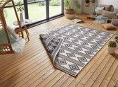 Design binnen & buiten vloerkleed Maple - zwart/crème 160x230 cm