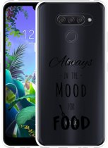 LG Q60 Hoesje Mood for Food Black