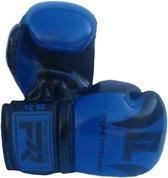Punch Round Bokshandschoenen SLAM Blauw Zwart 8 OZ Bokshandschoenen